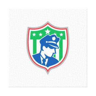 Escudo del oficial de policía del guardia de segur impresiones en lona