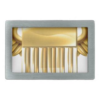 Escudo del oro de los E.E.U.U. con las alas Hebillas Cinturon Rectangulares