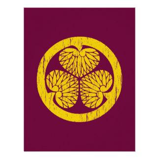 Escudo del oro de Tokugawa apenado Membretes Personalizados