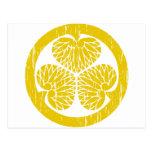 Escudo del oro de Tokugawa apenado Tarjeta Postal