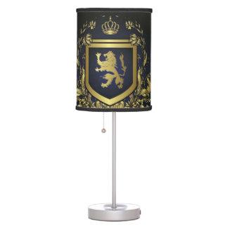 escudo del oro del midevil del vintage del grunge lámpara de mesa