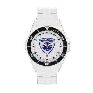Escudo del paramédico relojes de pulsera