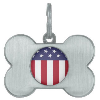 Escudo del patriota de la bandera americana placas mascota