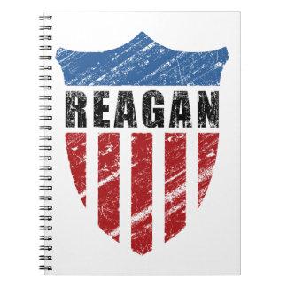 Escudo del patriota de Reagan Libro De Apuntes Con Espiral
