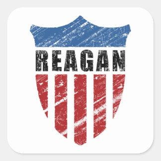 Escudo del patriota de Reagan Pegatina Cuadrada