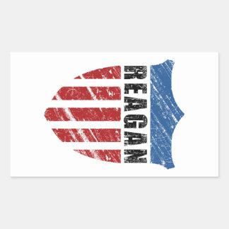 Escudo del patriota de Reagan Pegatina Rectangular