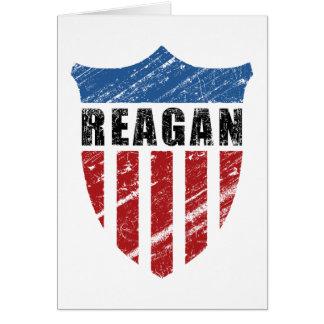 Escudo del patriota de Reagan Tarjeta De Felicitación
