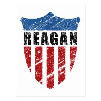 Escudo del patriota de Reagan Tarjeta Postal