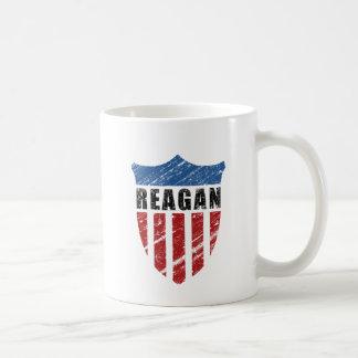 Escudo del patriota de Reagan Taza De Café