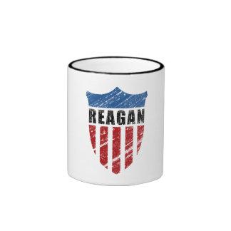 Escudo del patriota de Reagan Tazas De Café