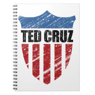 Escudo del patriota de Ted Cruz Libro De Apuntes Con Espiral