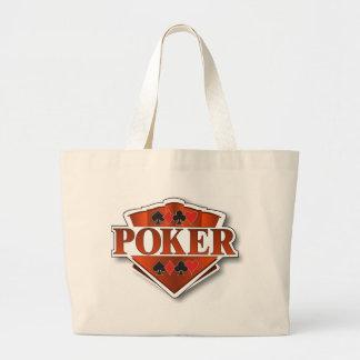 Escudo del póker bolsas lienzo