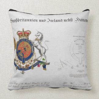 Escudo del rey del Reino Unido de gran B Cojín Decorativo
