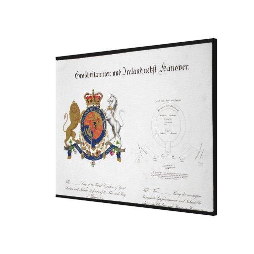 Escudo del rey del Reino Unido de gran B Impresión En Lienzo Estirada