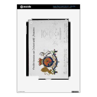 Escudo del rey del Reino Unido de gran B Pegatinas Skins Para iPad 3