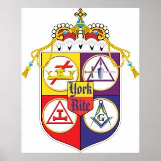 Escudo del rito de York Posters