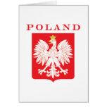 Escudo del rojo de Polonia Eagle Felicitaciones