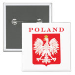 Escudo del rojo de Polonia Eagle Pins