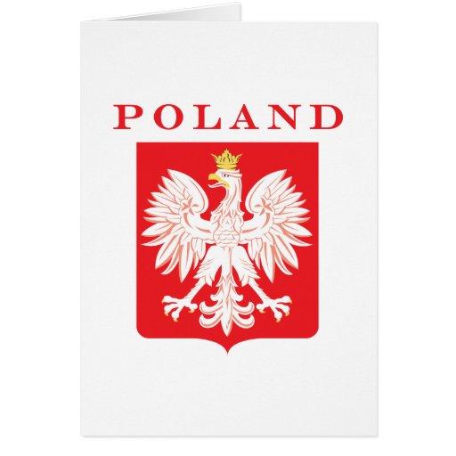 Escudo del rojo de Polonia Eagle Tarjeta De Felicitación