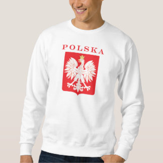 Escudo del rojo de Polska Eagle Sudaderas Encapuchadas