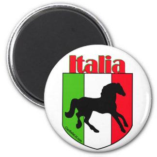 Escudo del semental de Italia Imán Redondo 5 Cm