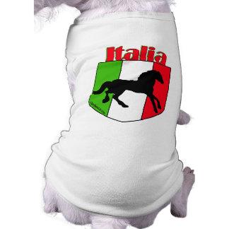 Escudo del semental de Italia Playera Sin Mangas Para Perro