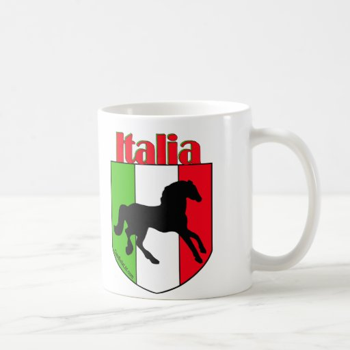 Escudo del semental de Italia Tazas De Café