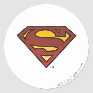 Escudo del superhombre S Pegatina Redonda