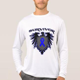Escudo del superviviente del cáncer de colon playeras