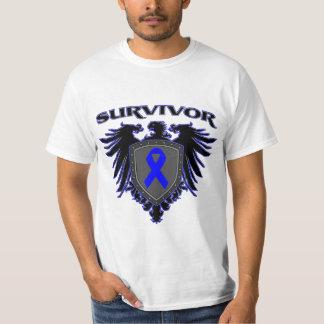 Escudo del superviviente del cáncer de colon remera