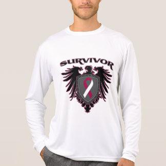 Escudo del superviviente del cáncer de garganta camisas