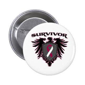 Escudo del superviviente del cáncer de garganta pin