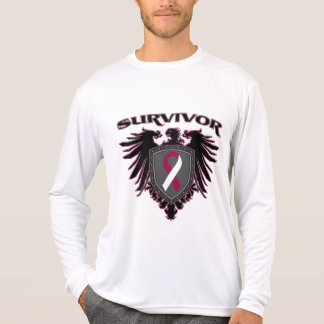 Escudo del superviviente del cáncer de garganta camiseta