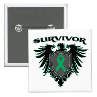 Escudo del superviviente del cáncer de hígado pins
