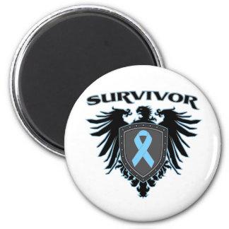 Escudo del superviviente del cáncer de próstata imán de frigorífico