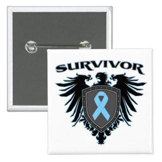 Escudo del superviviente del cáncer de próstata pins