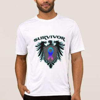 Escudo del superviviente del cáncer de tiroides remeras