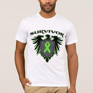 Escudo del superviviente del cáncer del linfoma playera