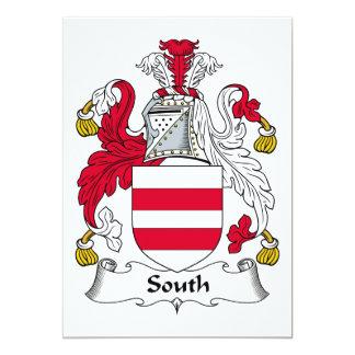 Escudo del sur de la familia invitación 12,7 x 17,8 cm