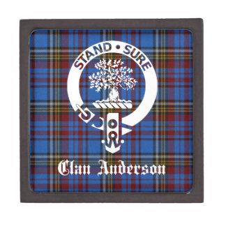 Escudo del tartán de Anderson del clan Cajas De Joyas De Calidad