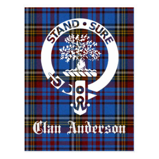 Escudo del tartán de Anderson del clan Tarjeta Postal