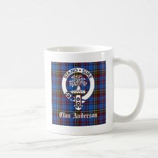 Escudo del tartán de Anderson del clan Taza De Café