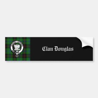 Escudo del tartán de Douglas del clan Pegatina De Parachoque