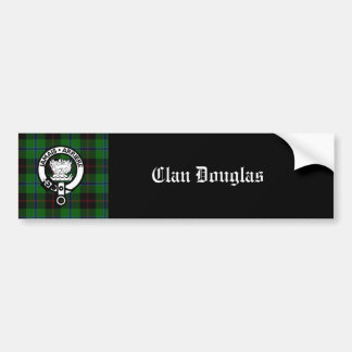 Escudo del tartán de Douglas del clan Pegatina Para Auto
