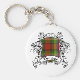 Escudo del tartán de Dundee Llaveros