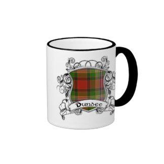 Escudo del tartán de Dundee Taza