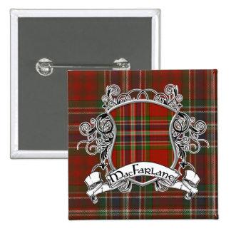 Escudo del tartán de MacFarlane Pins