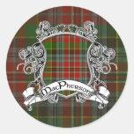 Escudo del tartán de MacPherson Pegatina Redonda