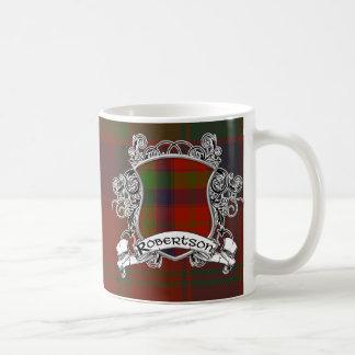 Escudo del tartán de Robertson Taza De Café