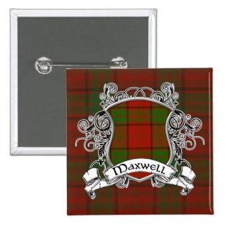 Escudo del tartán del maxwell pin cuadrado